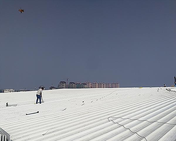 固始县奥体中心65-430型铝镁锰板