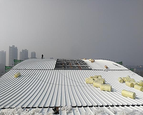 郑州羽毛球馆65-430型铝镁锰板