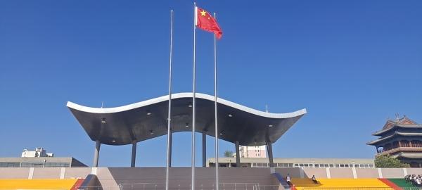 石家庄藁县一中65-430铝镁锰板看台